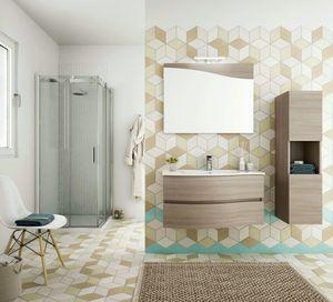 FLEX 01, Armoire de toilette suspendue avec tiroirs avec miroir
