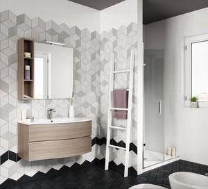 FLEX 03, Armoire de toilette suspendue avec tiroirs avec miroir