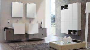 FUNKY FK-03, Meubles de salle de bain avec miroirs avec tiroirs push-pull
