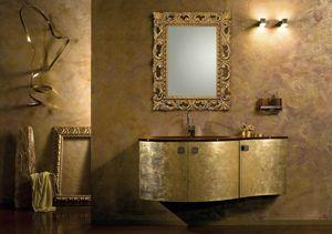 Glamour Oro AM37, Armoire de salle de bain à finition dorée