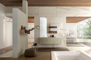 Lime Ø comp.48, Armoire murale de salle de bain, avec grands tiroirs