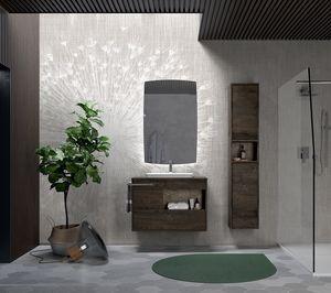 Meuble pour salle de bain avec vasque ovale idfdesign for Comptoir de salle de bain