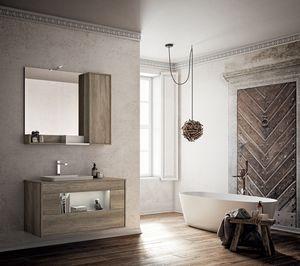 Lume comp.05, Meuble de salle de bain avec évier et miroir