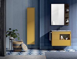 Lume comp.13, Meuble de salle de bain avec miroir et unité murale