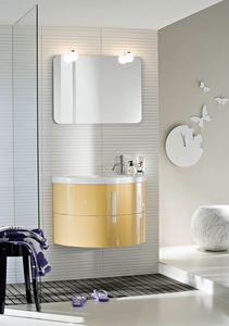 Moon comp.02, Cabinet suspendu, pour petites salles de bains