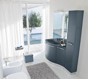 My Fly Evo comp.18, Cabinet de salle de bain de conception sinueuse