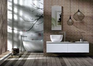 Plane 3D 04, Armoire de toilette avec façades à effet 3D