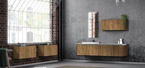 Plane ancient essences 02, Meubles de salle de bain avec des essences de bois antiques