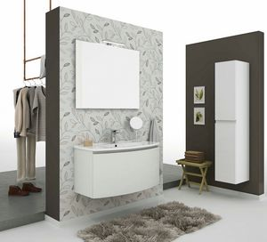 ROUND 01, Meuble sous-vasque mural avec tiroirs