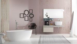 Summit 2.0 comp.01, Meuble de salle de bain moderne avec ouverture coulissante