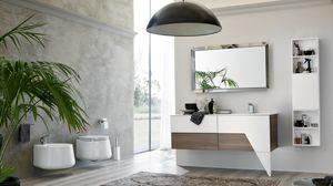 TEKNO TK-03, Meuble de salle de bain en orme sombre