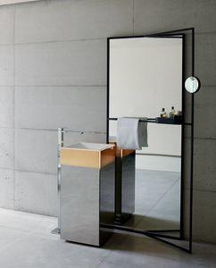 Upndino 421, Miroir et lavabo peu encombrants