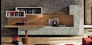 002 armoire de salon, Mobilier de salon élégant, avec des portes avec des décorations de feuilles