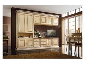 Art.0779/L, Meubles en bois pour les cuisines et les salles de séjour, couleur ivoire