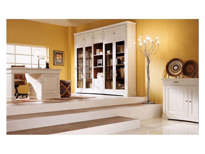 Art.100/L, Cabinet avec portes en verre biseauté, style classique
