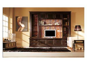 Art.101/L, Mur équipée en bois massif, style classique