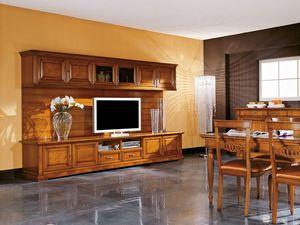 Art.106/L, Meuble TV en bois, style classique