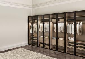 ATLANTE WIND comp.02, Garde-robe moderne pour les chambres, avec des portes en verre