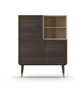 Cabinet Coco 011, Meuble de salon en chêne