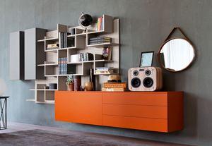 Citylife 02, Mobilier modulaire adapté pour les salles de vie modernes