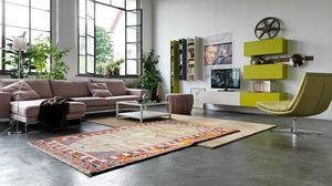 Citylife 04, Système modulaire pour salles de séjour modernes avec armoires murales