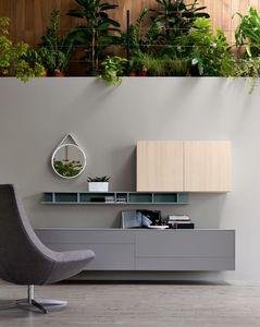 Citylife 05, Système de meubles pour salles de séjour modernes, personnalisable