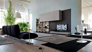 Citylife 13, Mobilier moderne pour salles de séjour, avec des panneaux de revêtement