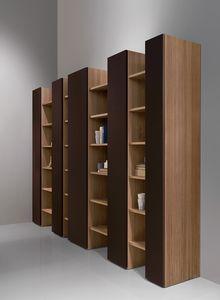CODE comp.04, Bibliothèque moderne, élégante et robuste, pour le salon