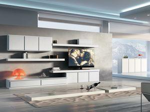 Giorno Sistemi 09, Ensemble de meubles modulaires pour des séjours modernes