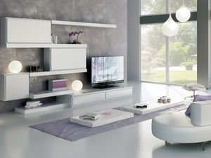 Giorno Sistemi 12, Système de mobilier modulaire, avec différentes finitions