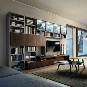 Modo M5C59, Bibliothèque avec meuble TV