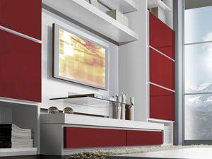 Mur Jour 03, Système de meubles pour le salon, diverses finitions