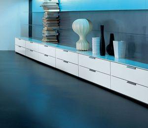 PRISMA comp.05, Armoire basse avec tiroirs pour le salon, de haute qualité