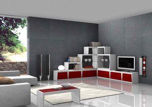 Red Corner, Coin meuble tv, pour un séjour élégant