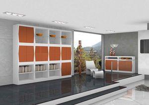 Silvy, Meubles pour le salon avec les portes et les étagères