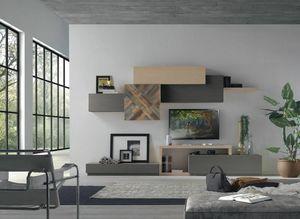 Spazio Contemporaneo SPAZ08, Mobilier modulaire moderne pour salon