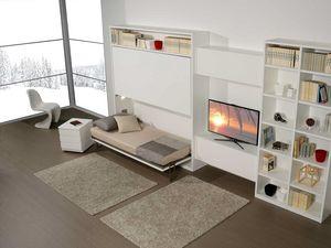 Surf LC442, Meubles de salon avec lit superposé caché