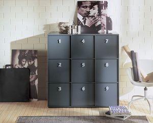 TOOLBOX comp.03, Unité de stockage pour la maison ou au bureau, poignées numérotées