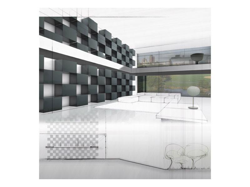 Trealcubo comp.07, Conteneurs modulaires pour les espaces intérieurs