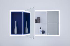 Joy miroir, Miroir de rangement pratique pour salle de bains