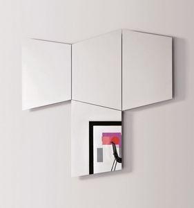 Geometrika trapézoïdale, Miroirs trapézoïdales de mur, avec lumière LED intégrée