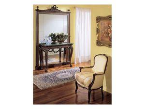 3160 MIRROR, Luxe miroir classique, en bois sculpté à la main