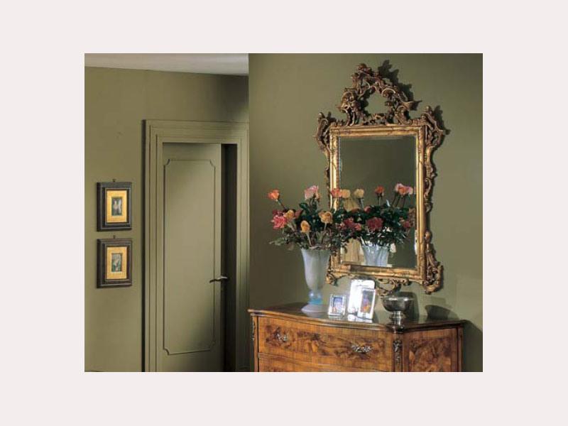 3265 MIRROR, Miroir rectangulaire classique, sculpté à la main