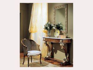 3270 MIRROR, Miroir rectangulaire avec ornements d'or, des hôtels classiques
