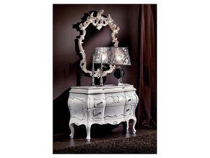 3445 MIROIR, Sculpt� � la main miroir, classique, finition laqu�e