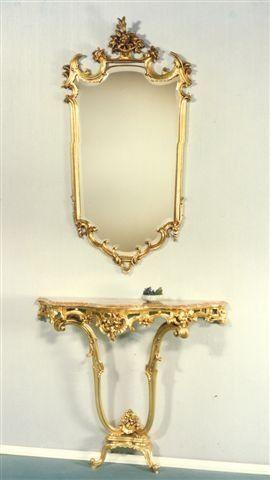 5040 MIROIR, Miroir sculpt� adapt� pour h�tel de luxe