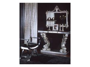 703 MIRROR, Miroir classique avec finition argent, pour un usage résidentiel
