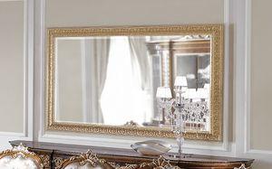 ART. 3059, Miroir avec cadre en feuille d'or