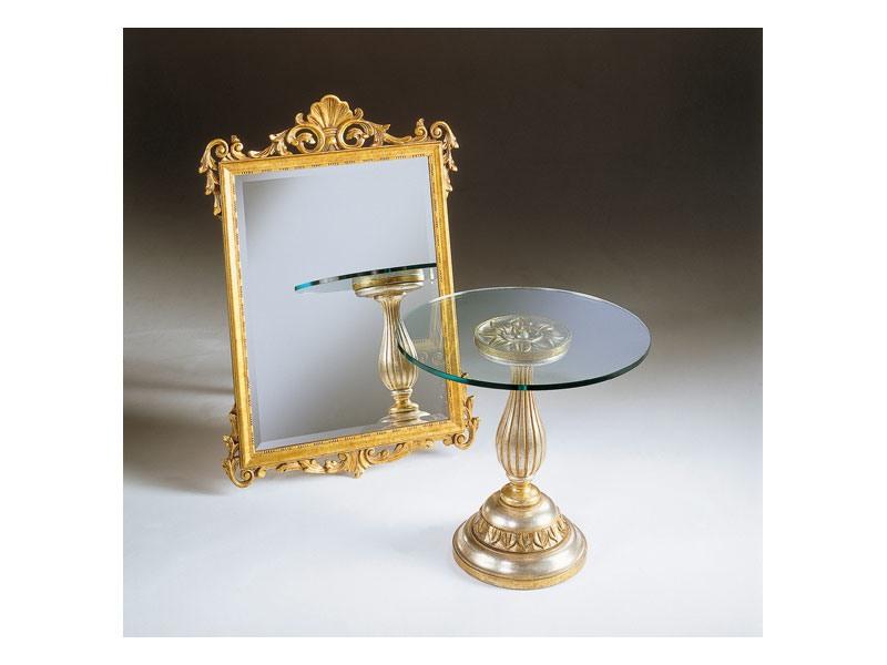 Art. 401, Miroir avec finition à la feuille d'or, antiquité, pour hôtel