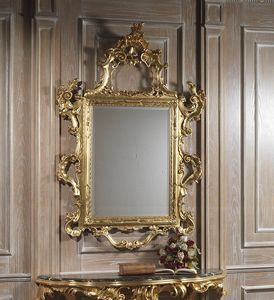 Art. 660 miroir, Miroir sculpt� majestueux, finition dor�e